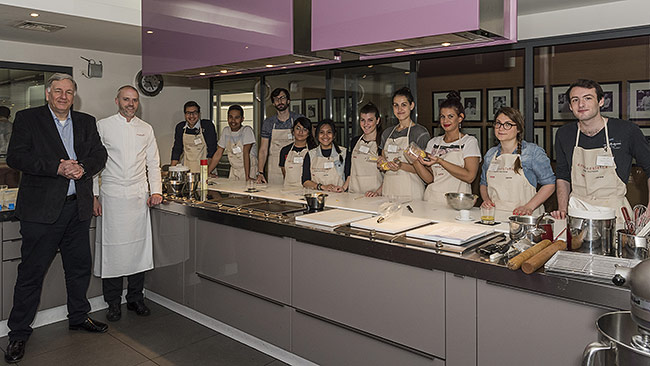AIM students at the école de cuisine Alain Ducasse