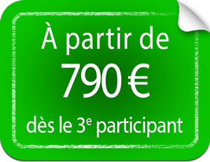 Tarif préférentiel : 790 € dès la 3e personne