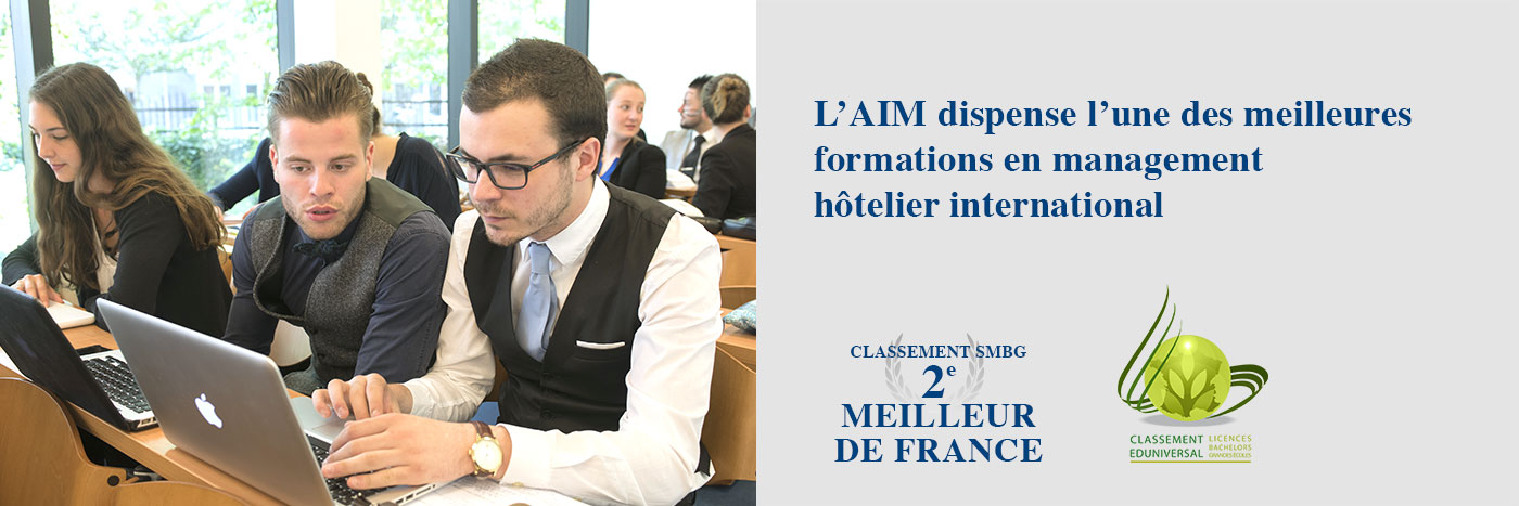 L'AIM dispense l'une des meilleures formations en management hotelier