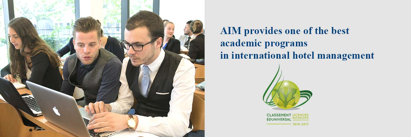 AIM provides one of the best acdemic programs in international hotel management