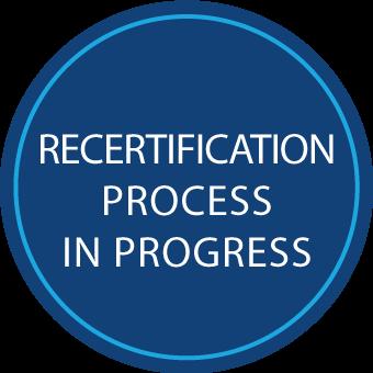 Demande de recertification en cours