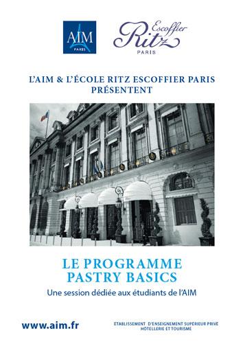 AIM et Ritz-Escoffier : le programme Pastry Basics