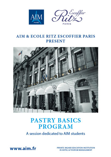 AIM & Ritz-Escoffier: Pastry Basics program