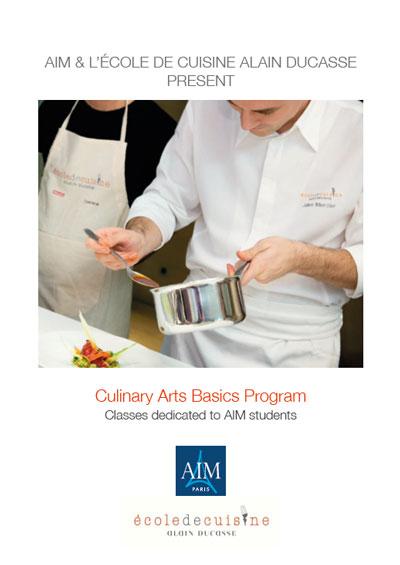 AIM et l'école de cuisine Alain Ducasse : le programme Culinary Arts Basic